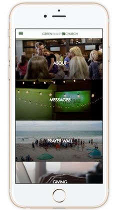Church App - Beautiful Custom Mobile Apps for Churches Church App, Green Valley, Small Groups, App Design, Mobile App, Apps, Engagement, Mobile Applications, App