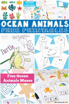 Here is a FREE Ocean Animals printables packs. There is almost 20 packs available!    Need more freebies? Click here for a huge selection of Fre