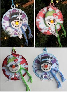 tea light snowman pin | Snowman Tea Light Ornaments | Snowmen