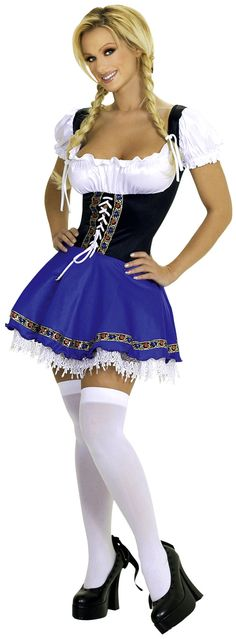 Get an Oktoberfest Barmaid Costume. Oktoberfest is not complete without the barmaids and tavern wenches. Oktoberfest Outfit, Oktoberfest Beer, German Oktoberfest, Girl Costumes, Costumes For Women, Halloween Costumes, Maid Costumes, Girl Halloween, Adult Costumes