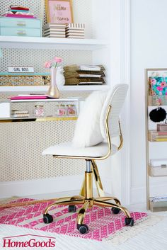 What's your workspace style?  With clever and colorful storage solutions, fun lighting, exciting stationary and inspirational quotes, your office will be a mix of both work and play.  Want more at home office ideas?  Head to our workspace board for tips & tricks that are ready to be put to work!