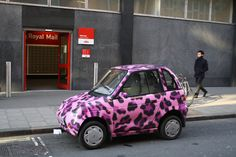 How About A Pink Leopard Smart Car Via Amiclubwear With Shira Lerner Hannah Briones And Iyani Hardwick