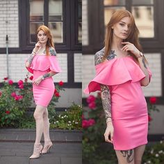 Get this look: http://lb.nu/look/8749759  More looks by Katarzyna Konderak: http://lb.nu/katepanth  #classic #minimal #romantic #pink #dress #candy