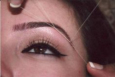Threading...best solution for eyebrow shaping...thanks to my Iranian friend Nazarin!!!