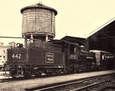 B&M 0-6-0 switcher engine at the Concord, NH passenger station.