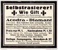 Original-Werbung/ Anzeige 1925 - SELBSTRASIERER / ACODRA DIAMANT/ BETHGE COMPAGNIE DRESDEN - ca. 65 x 60 mm