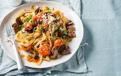 Chorizo and chicken liver pasta