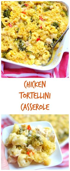 Use up all that leftover chicken or turkey with this awesome, cheesy casserole. Use up all that leftover chicken or turkey with this awesome, cheesy casserole. Pasta Dishes, Food Dishes, Main Dishes, Side Dishes, Chicken Tortellini, Cheese Tortellini, Chicken Broccoli, Cheesy Chicken, Garlic Chicken