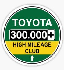 'Toyota High Mileage Club - Miles' Sticker by brainthought Transparent Stickers, Sticker Design, Toyota, Cart, Retro, Covered Wagon, Retro Illustration, Strollers