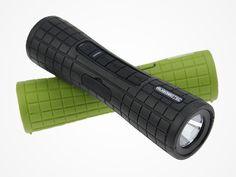 RuggedTec FlashBang Speaker (Black/Green): The Durable, Portable Speaker That Does Double Duty As a Flashlight