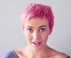 pink pixie hair - Google Search