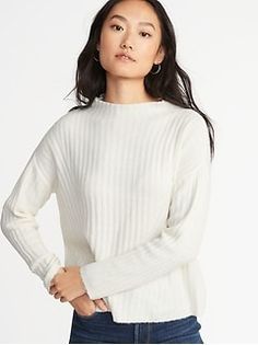 97f038844 Shaker-Stitch V-Neck Sweater for Women