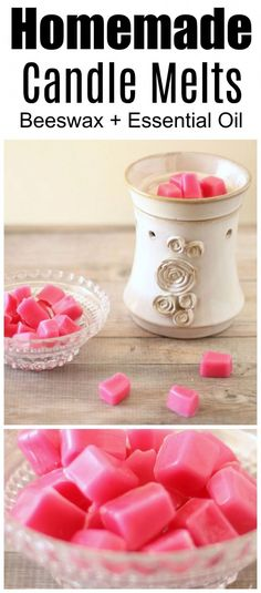 Simple homemade wax candle melts. This easy DIY project uses beeswax and grapefruit essential oil to fill your home with amazing, natural scent! #candlemakingdiy Diy Candles Easy, Homemade Candles, Home Candles, Jar Candles, Luxury Candles, Beeswax Candles, Candle Wax, Scented Candles, Diy Candle Melts