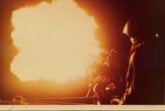Night Firing 1968  Unit Name: USCGC Pt Grace  81mm Mortar Blast at night