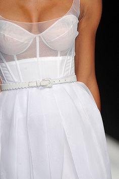 Sheer corset