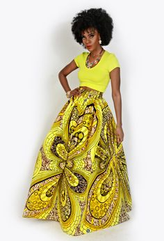 Amazing yellow print