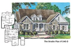 BRAND NEW hillside walkout home plan, The Brodie 1340-D! 4 beds, 3.5 baths, 2872 square feet. Big, open kitchen with a view and walk-in pantry. http://www.dongardner.com/plan_details.aspx?pid=4612 #new #floorplan #design