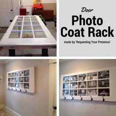 How To Make A Door Photo Coat Rack Easily | The WHOot