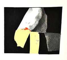 Mark Strand, 2013, paper collage, 4x43/8""