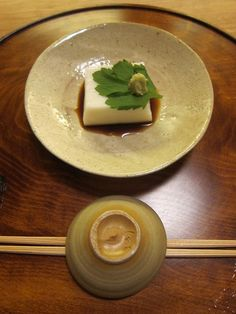 Japanese Food Gomadofu, Sesame Tofu as Kyoto Cuisine | ごま豆腐. to die for delicious...