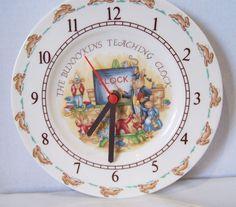 Royal Doulton Bunnykins Teaching clock #RoyalDoulton