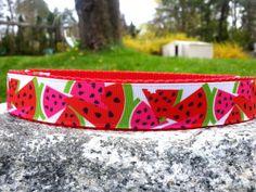 Summer Watermelon 1 Inch Width Dog Collar by WillyWoofs on Etsy, $18.00