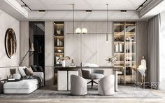 Law Office Decor, Office Space Design, Modern Office Design, Office Furniture Design, Corporate Interior Design, Luxury Interior Design, Modern Interior, Study Room Design, Home Room Design