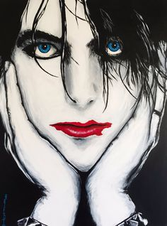 Painting by Greg Hutting *Hello Image* Robert Smith ...it's so awesome...❣