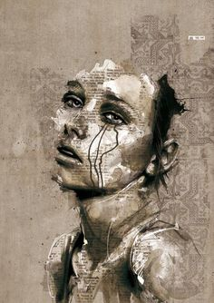Inspiring Illustrations  Experimental portraits of distinctive faces by Florian Nicolle, an illustrator and graphic designer from Caen, France.