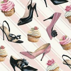 """Sweets & Shoes Luncheon Napkins by Evergreen Enterprises, Inc. $4.45. A unique gift idea. 3-Ply Paper Construction. Not recommended for microwave use. 6.5"""" Square, Folded. 20 Per Package. Perfectly designed for a party or for every day, the Sweets & Shoes Luncheon Napkins add whimsy to any meal or event. Elegant and sassy shoes are on display paired with luscious cupcakes decked in swirling pastel colored frosting. Pearl accents add grace to these sophisticated napkins..."""