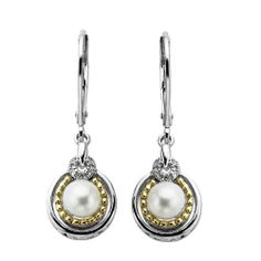S Sterling Silver and 14k Gold Freshwater Cultured Pearl and Diamond Earrings Amazon Curated Collection. $109.00. Made in China. Save 56%!