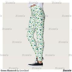 Shop Green Shamrock Leggings created by LeonOziel. Gym Fashion, Fashion Outfits, Leggings Fashion, Look Cool, Dressmaking, Yoga Leggings, Yoga Pants
