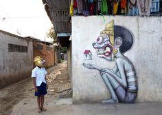 French artist Julien Malland, aka SETH, aka Globe-Painter globe art urban art