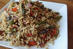Orzo and Oven Roasted Vegetables