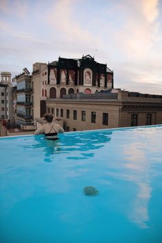 Barcelona Rooftop Infinity Pool at the Grand Hotel Central.