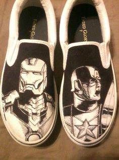 Hand drawn, one of a kind custom shoes. If you want a pair of your own custom shoes, send me a message with your shoe size and what you want on them! Prices: $40 for womens, $45 for mens, plus shipping.