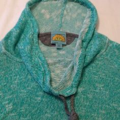 Super cute yoga sweater Turquoise sweater perfect for lounging or yoga C&C California Sweaters Shrugs & Ponchos