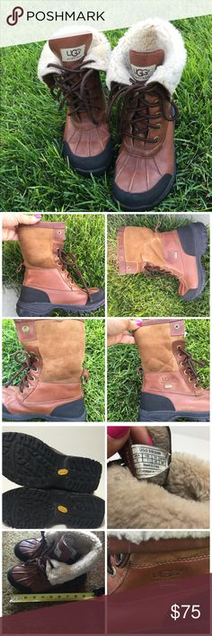 UGG Australia Kids Butte 5209 Worchester Boots 2 Authentic UGG Australia Kids Butte 5209K WORCHESTER BOOTS Size 2 Waterproof slight wear on upper but under fur so not noticeable. Preowned fantastic condition. Barely worn. UGG Shoes Boots