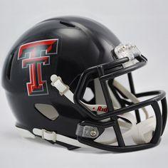 Riddell Texas Tech Red Raiders Revolution Speed Mini Replica Helmet, Black