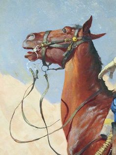 Frederic Remington 1890 The Advance-Guard, or The Military Sacrifice detail