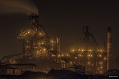 "HDR Photo: Factory night view ""Glimmer"""