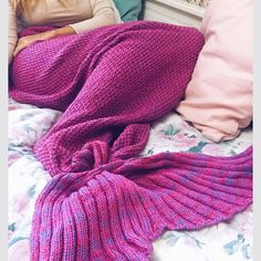 2016 New Design Solid Babies Mermaid Blanket Tail Adult Acrylic Blanket Sleeping Bag 3 Different Sizes #>=#>=#>=#>=#> Click on the pin to check out discount price, color, size, shipping, etc. Save and like it!