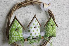 Zelené vtáčie búdky by tulip.dekoracie - SAShE.sk - Handmade Veľká Noc