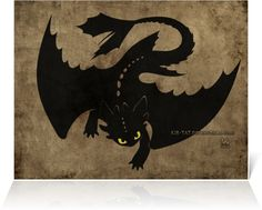 Drawn by kir-tat ...  How to train your dragon, toothless, night fury, dragon