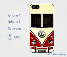 VW Camper Van Red case Iphone 4 case iphone 4s by AlibabaDesign, $6.88