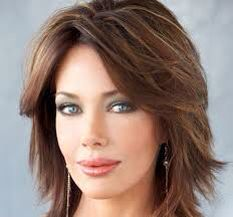 Hunter Tylo- Anyone who has been a fan of soap operas is familiar with cbss the .Hunter Tylo- Anyone who has been a fan of soap operas is familiar with cbss the bold and the Medium Layered Hair, Medium Hair Cuts, Short Hair Cuts, Medium Hair Styles, Curly Hair Styles, Medium Shaggy Hairstyles, Shaggy Haircuts, Work Hairstyles, Up Girl