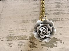 Vintage Inspired Shabby Chic Gray and White by 10onWednesday, $15.00