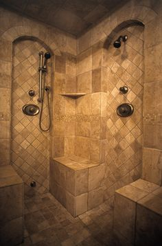 double shower. Then Steve and I wont fight over the water and can shower together!