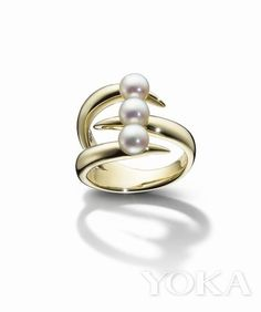 Tasaki , I love this in White Gold and it would be great With a satin finished! Pearl Ring, Pearl Jewelry, Jewelry Rings, Jewelery, Jewelry Accessories, Jewelry Design, Unique Jewelry, Bijou Lalique, Titanic Jewelry