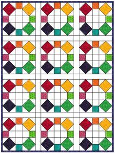 rolling stone quilt block variation